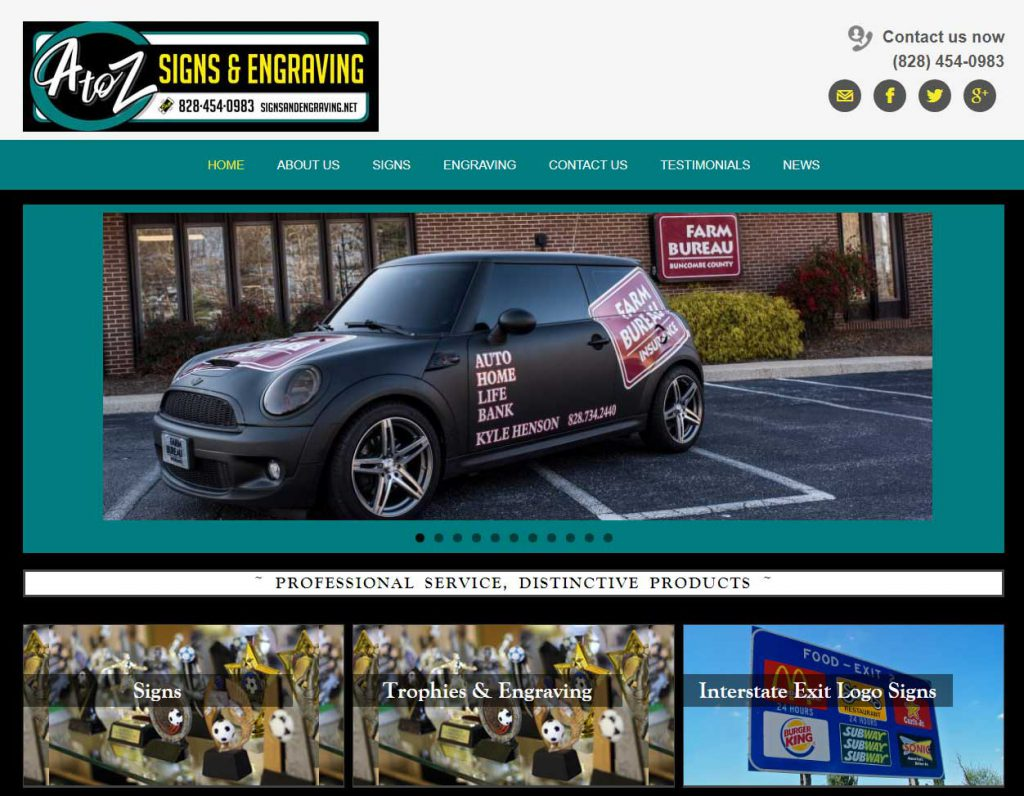 Websites for Signs & Engraving Company